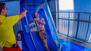 UK's First Trapdoor Water Slide: THUNDERBOLT at Waterworld Stoke