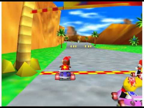 Nintendo 64 Longplay - Diddy Kong Racing Part 1