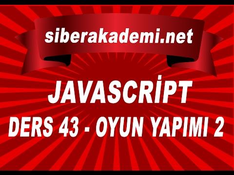 javascript dersleri 43  oyun yapımı 2