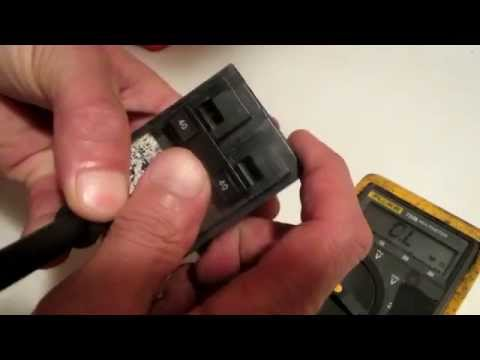 using a multimeter to check a house type circuit breaker youtubeusing a multimeter to check a house type circuit breaker