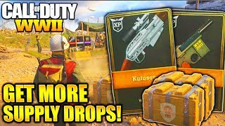 HOW TO GET MORE SUPPLY DROPS FAST and EASY WORLD WAR 2! COD WW2 GET MORE SUPPLY DROPS ARMORY CREDITS