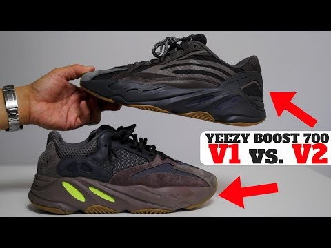 bae86c567a59a adidas YEEZY BOOST 700 V1 vs V2 Comparison Review! (Mauve vs Geode) Help me  reach 500k Subscribers!