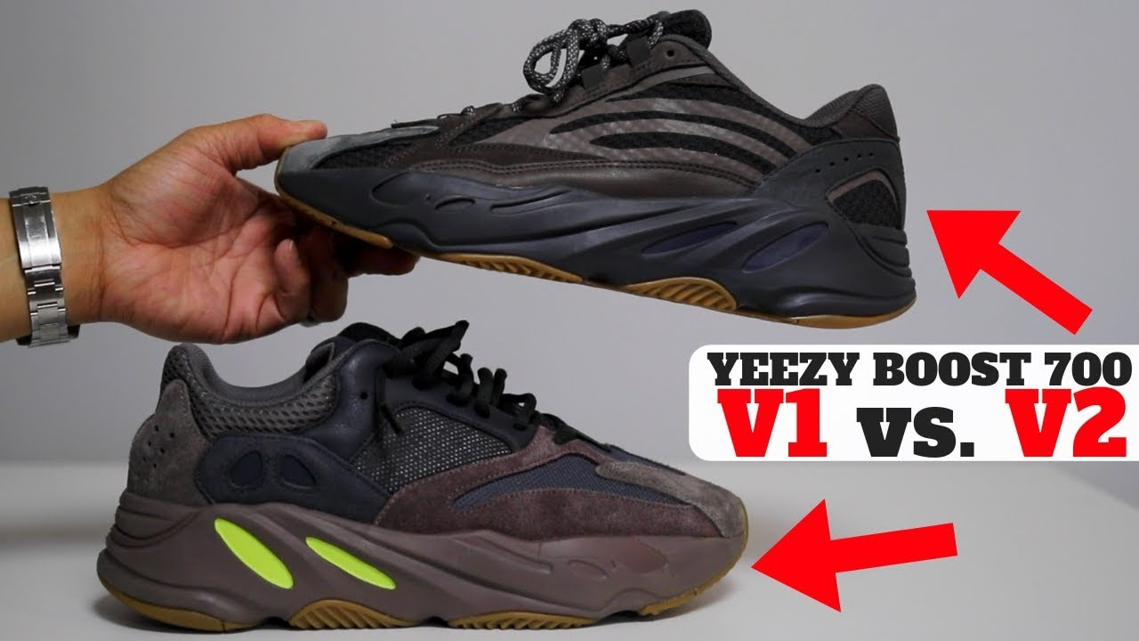 007cd4ca5c0957 adidas YEEZY BOOST 700 V1 vs V2 Comparison Review! (Mauve vs Geode ...