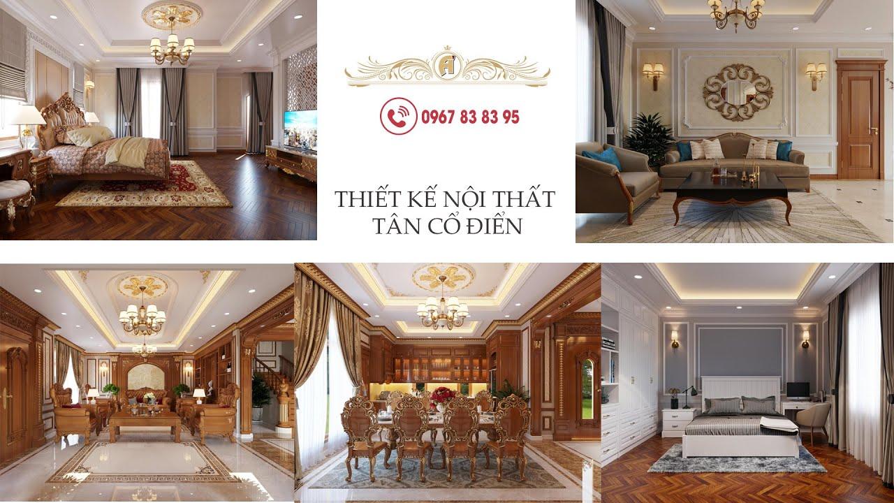 Thiết kế nội thất biệt thự tân cổ điển đẹp 2020 – BTAC 1414