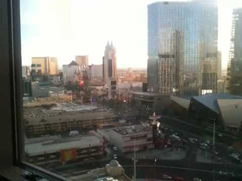 View from our room in Las Vegas.