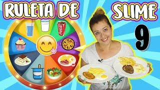 Ruleta de Slime 9 | SLIME food vs REAL food | Slime Challenge