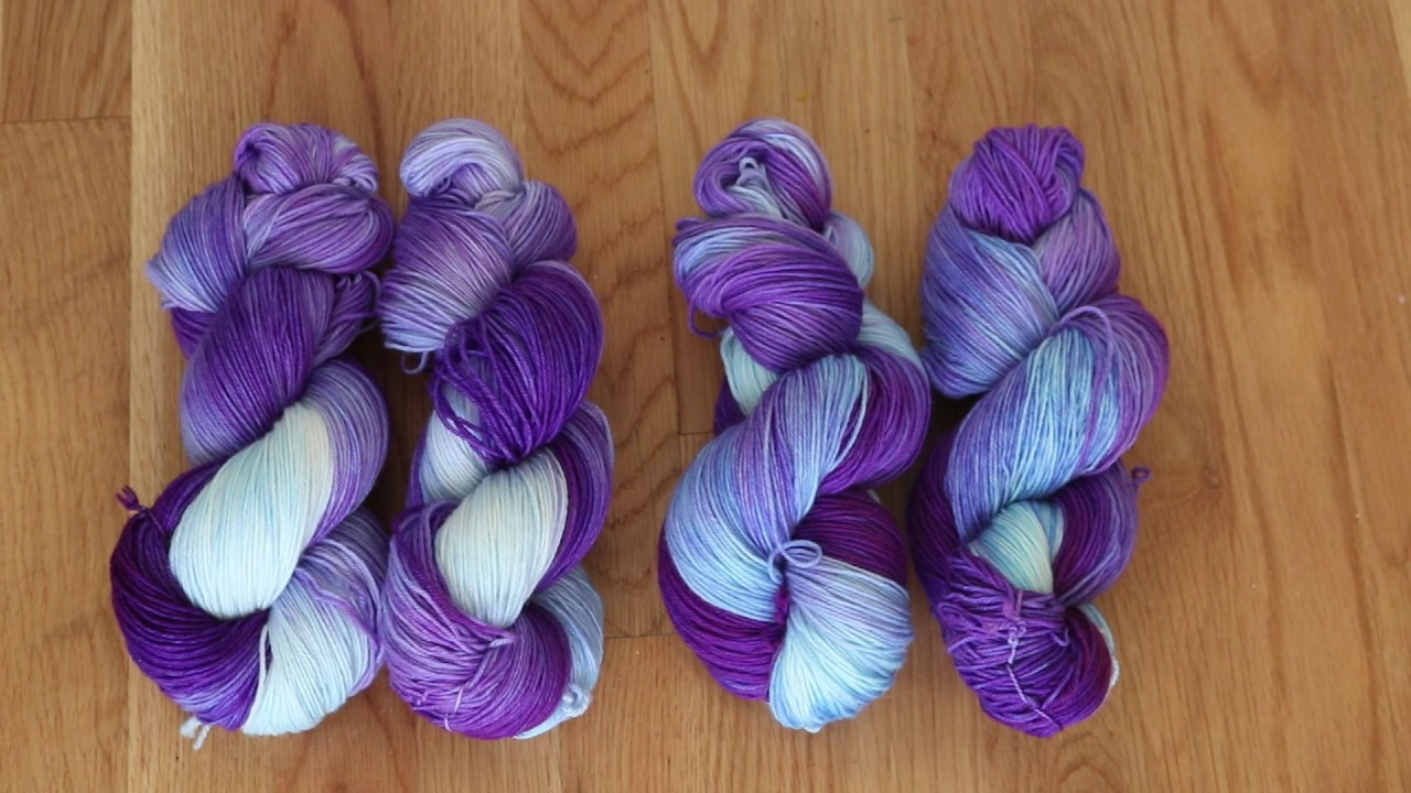 Breaking Wilton\'s Violet Food Coloring; Dip Dyeing Two Skeins at a ...