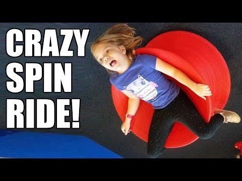 CRAZY SPIN RIDE! Indoor Playground Fun! | Babyteeth More!