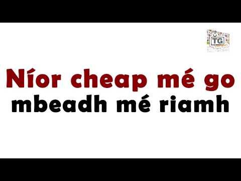 """Cuir Glaoch Orm B'fhéidir - """"Call me maybe"""" as Gaeilge"""