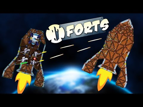 ZERO GRAVITY Rocket CHALLENGE! - Forts Multiplayer Gameplay