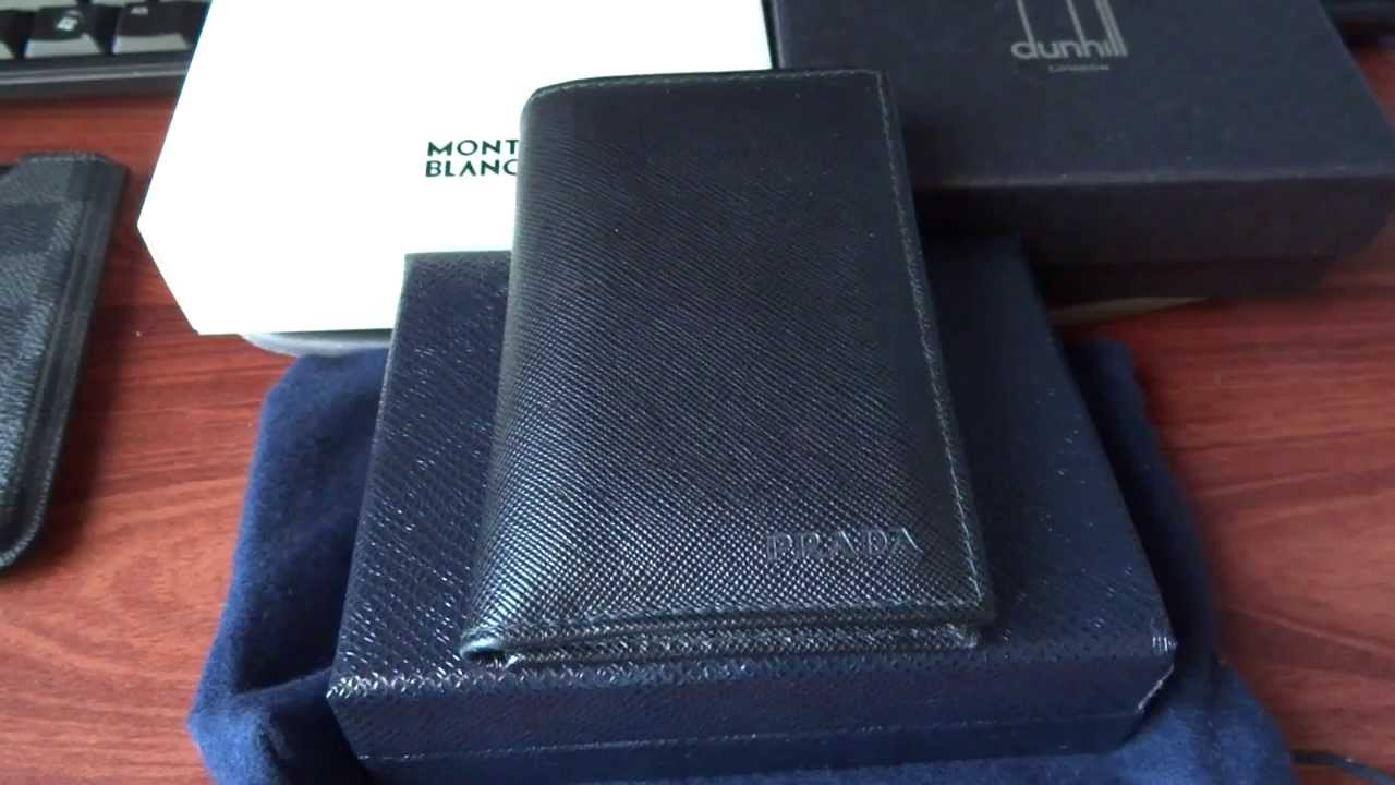 3 Months REVIEW: PRADA 2M1101 Saffiano Nero Business Card Wallet ...