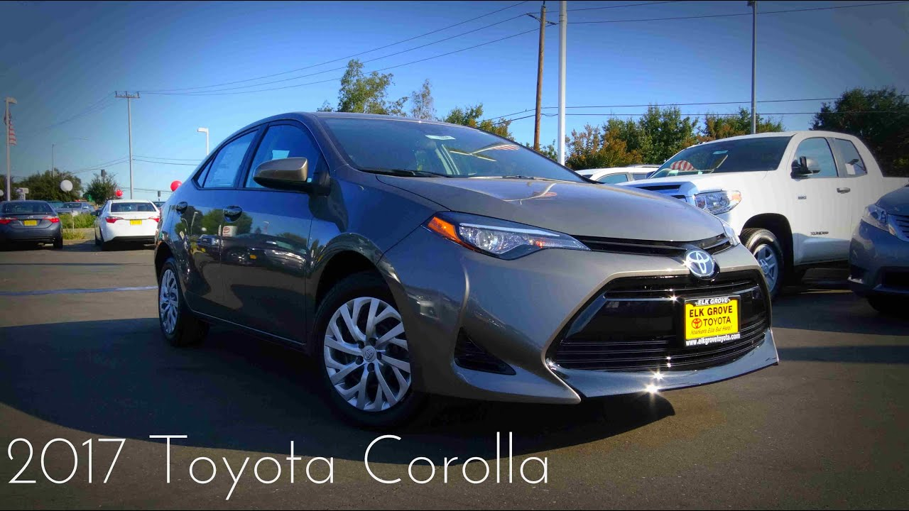 2017 toyota corolla le 1 8 l 4 cylinder review youtube. Black Bedroom Furniture Sets. Home Design Ideas
