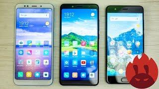 Xiaomi Redmi Note 5 Pro vs Redmi 5 Plus vs Mi Note 3 AnTuTu тест