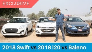 2018 Elite i20 vs Maruti Baleno vs 2018 Swift : Comparison ⭐️⭐️⭐️