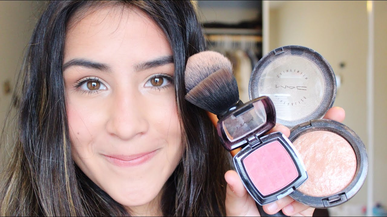How To Apply Blush & Highlighter   2 DIFFERENT WAYS   Talk Through ...