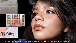 Makeup look using Beauty Glazed Gorgeous Me + Detail Makeover Palette | Emerald Glam