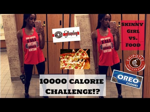 10,000 CALORIES IN A DAY CHALLENGE | Epic Cheat Day | Skinny Girl vs. Food
