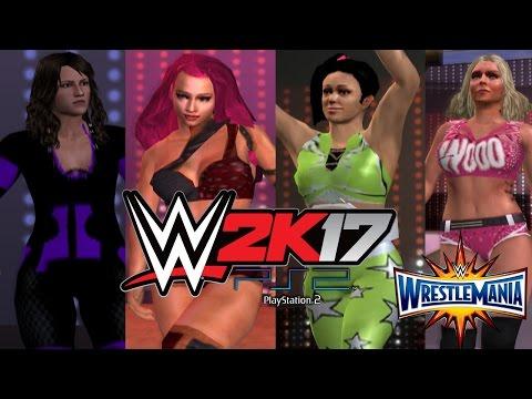 WWE 2K17 PS2: Fatal 4-Way Elimination Match - Wrestlemania 33 - WWE RAW Women's Championship