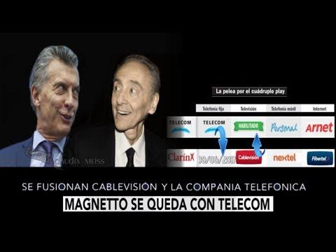 Clarín -Telecom : Magnetto se queda con el cuádruple play  30/ 06/ 2017