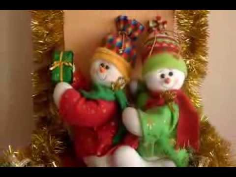 Mu ecos navide os amiguitos nieve youtube for Manualidades renos navidenos