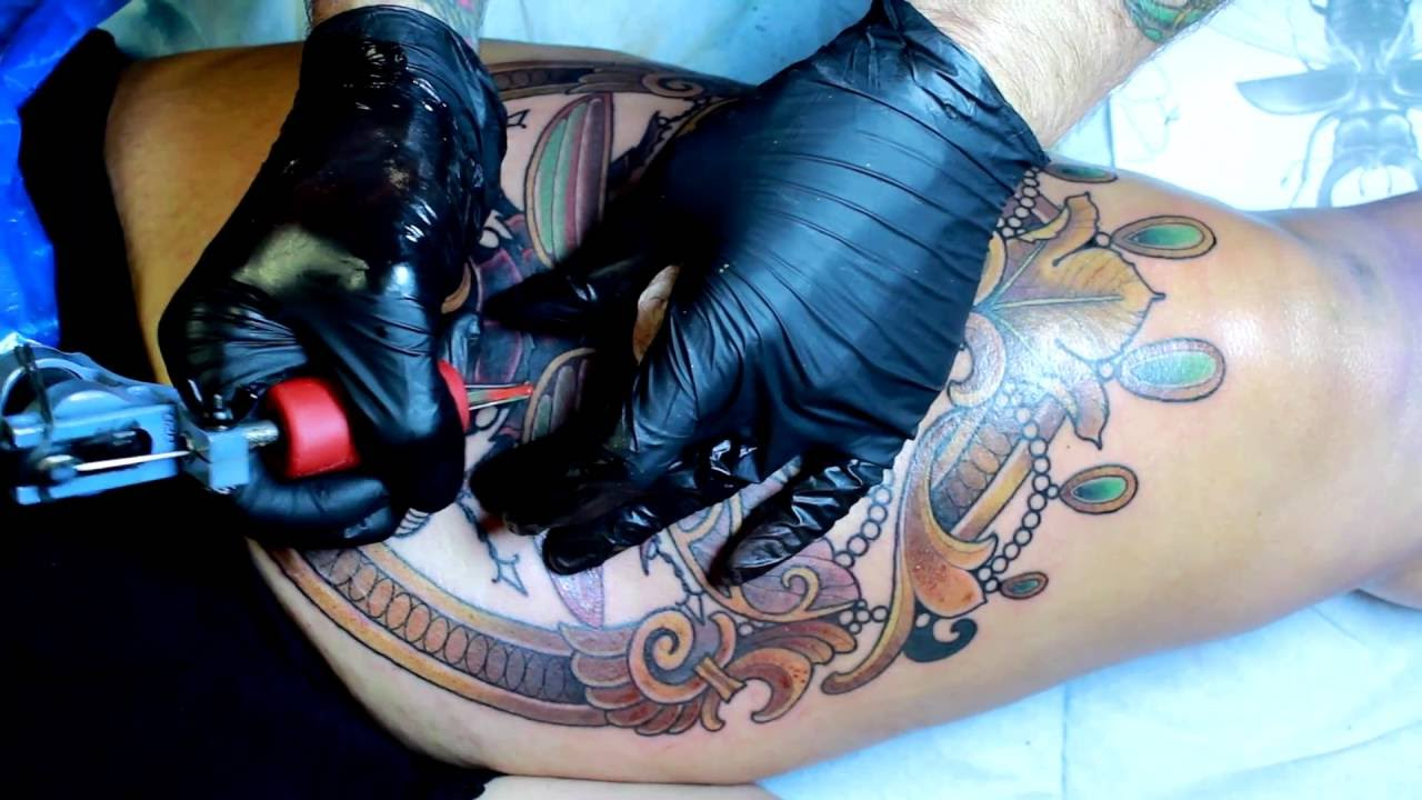 The process of getting a tattoo youtube for Process of tattooing
