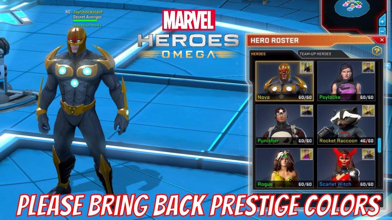 Marvel Heroes Omega - Dear Gazillion, Please Bring Back Prestige Name  Colors  Badges SUCK