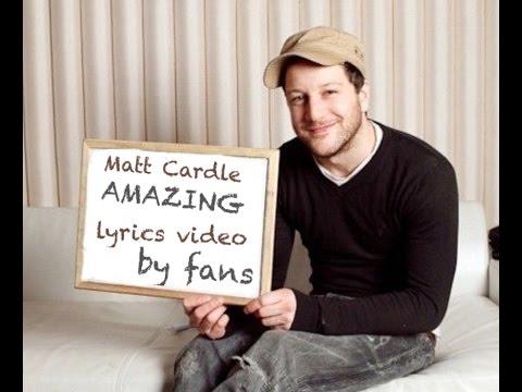 Matt Cardle  Amazing Fan Lyrics