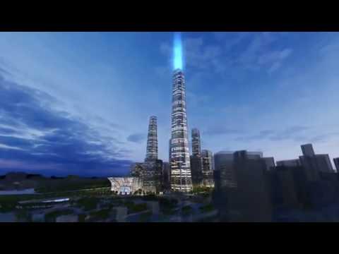 Guizhou Culture Plaza Tower Video