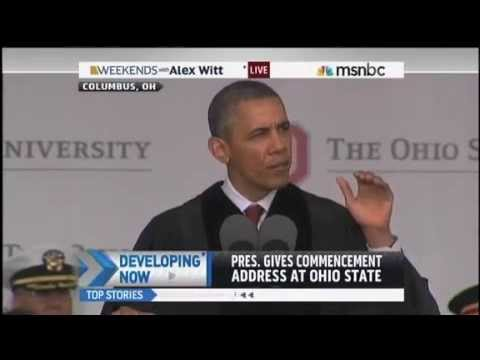 President Obama's full Speech to Ohio State Grads not just out of context clips