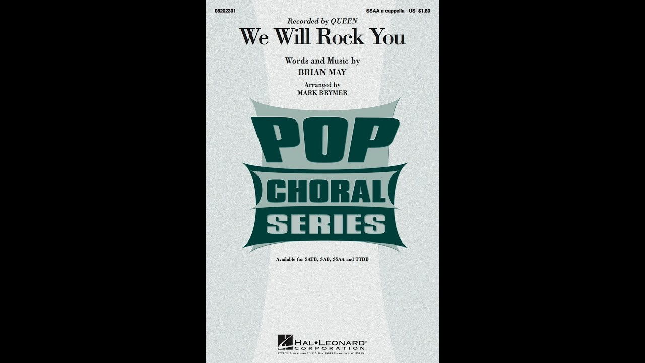 We Will Rock You (SSAA a cappella) - Arranged by Mark Brymer