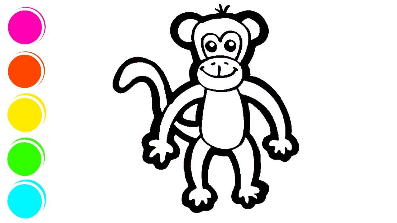 Cara Melukis Monyet Dengan Mudah Youtube