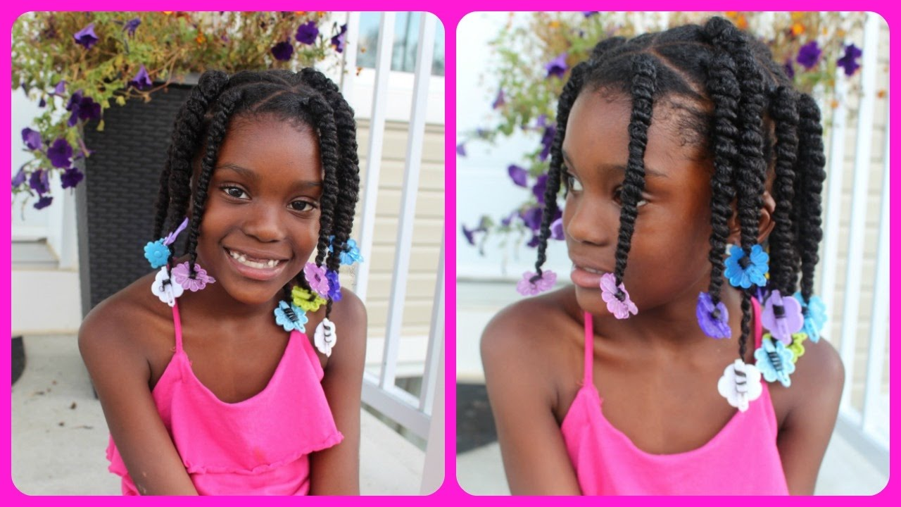 easy kids hairstyles - box twist with rubber bands!
