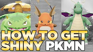 How to Get Shiny Pokemon Combo in Pokemon Let's Go Pikachu & Eevee
