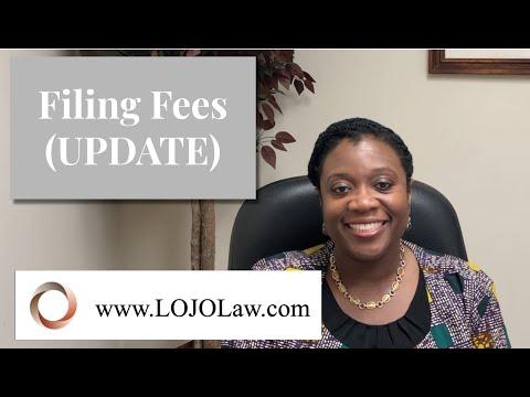 Filing Fees UPDATE