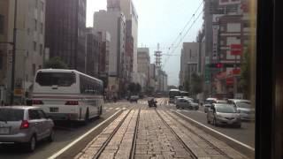 伊予鉄道(市電) 前面展望 車窓 道後温泉→松山市駅/ 道後温泉1527発