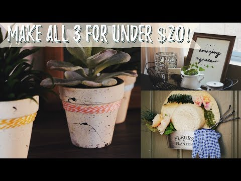 DIY Dollar Tree Home Decor Ideas (SPRING 2018)