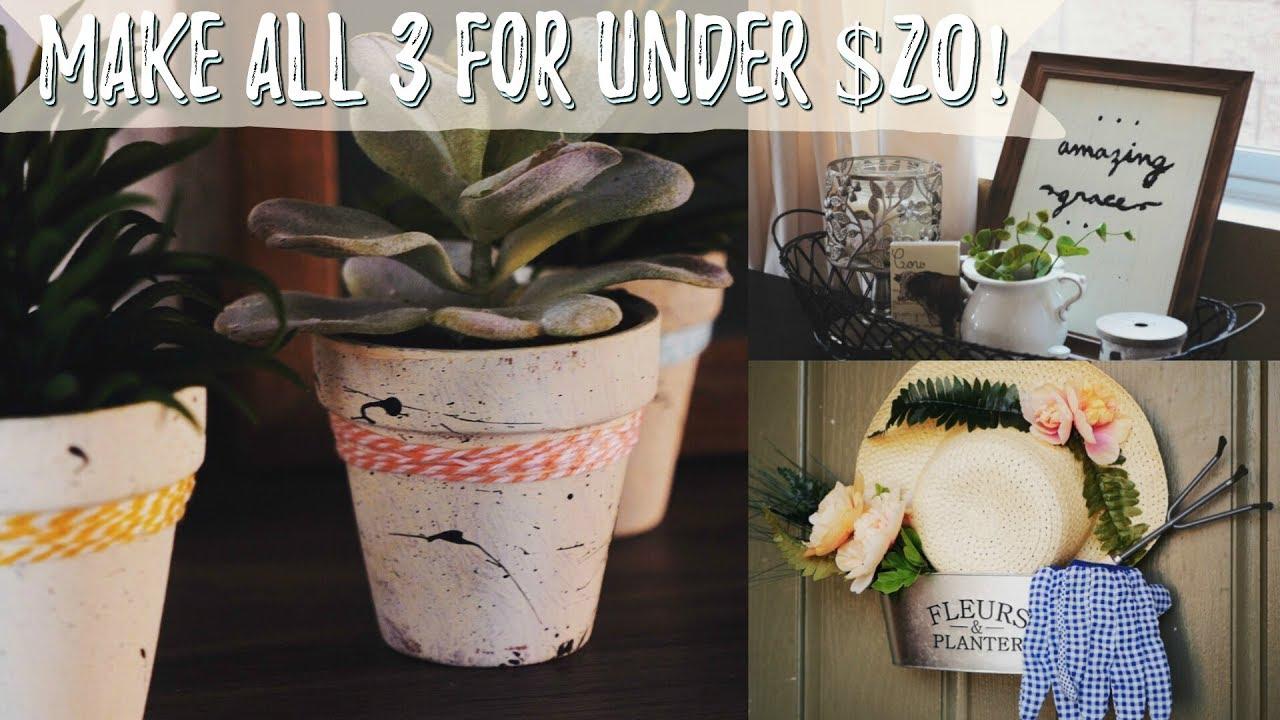 Diy Dollar Tree Home Decor Ideas Spring 2018 Youtube