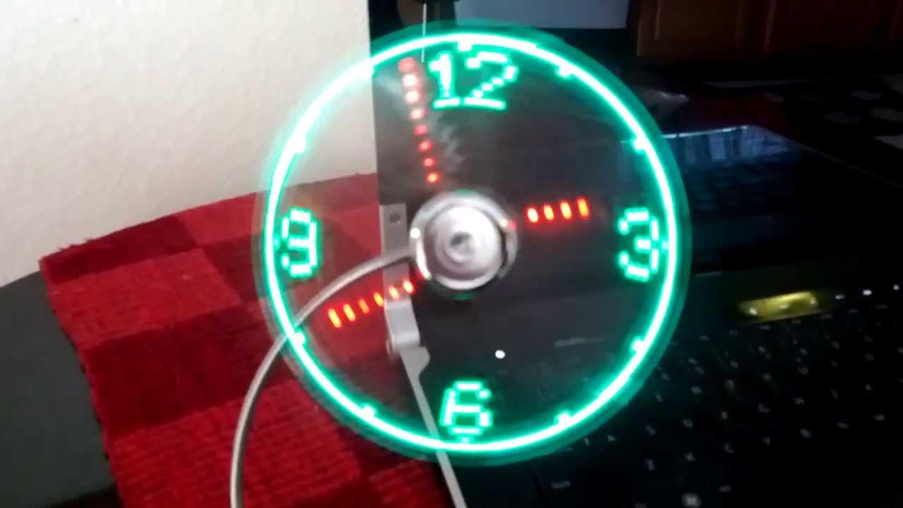 Usb Led Clock Fan Review Youtube