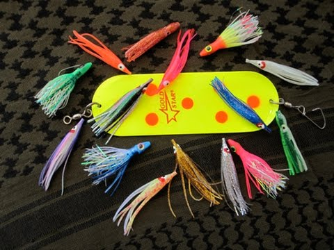 Hoochies for trout and salmon youtube for The fish sniffer