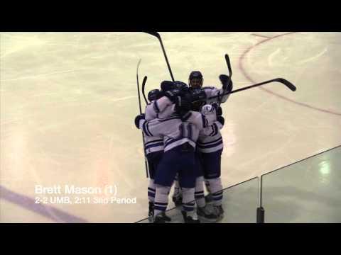 UMass Boston Men's Hockey vs New England College (2/12/16) Highlights