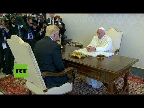 Vaticano: Donald Trump cara a cara con el papa Franciso