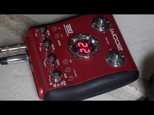 Zoom B2 Demo with a cheap bass g