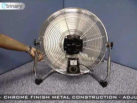 18 Inch High Velocity Chrome Fan Desk Floor Fan Youtube