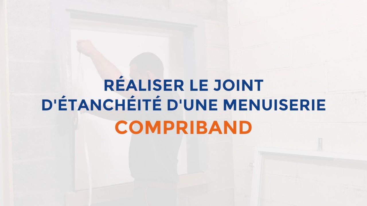 Tramico Pose Du Compriband Réaliser Le Joint Détanchéité Dune