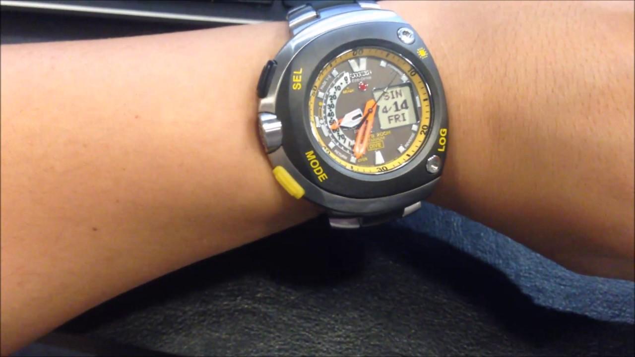 b4bec9bf00c Short Review on the CITIZEN Promaster Eco Drive AQUALAND Titanium Divers  Watch JV0055 51E