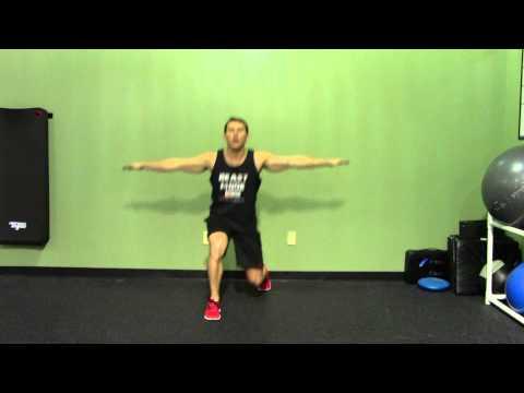 Knee Raise with Twist Lunge