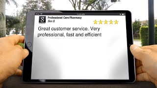 Professional Care Pharmacy Review Valley Gate 21208 MD