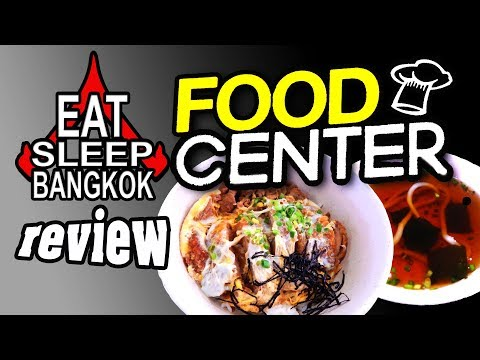 Platinum mall's food court - the Food Center in Bangkok
