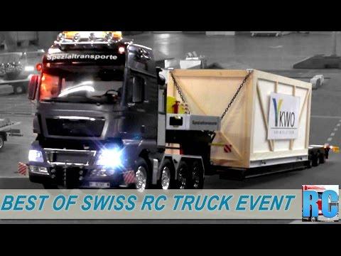 BEST OF SWISS RC TRUCK EVENT - DRIVE SHOW JONA 2015, SWITZERLAND - BIG EXCAVATOR, TRUCKS, TRACTORS
