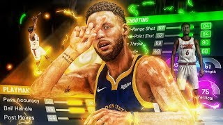 OFFICIAL Stephen Curry DemiGod Build on NBA 2K20! Speedboost + SHOOT & FADE FROM HOF LIMITLESS 😳🔥